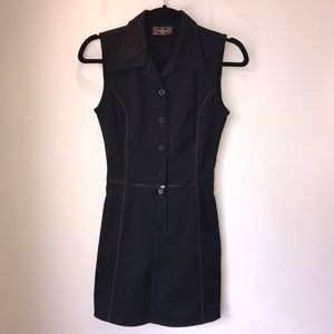 Authentic Fendi 2-piece detachable black zip dress